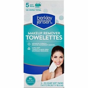 Berkley Jensen Make Up Remover Facial Towelettes, 125 ct pack of 6.