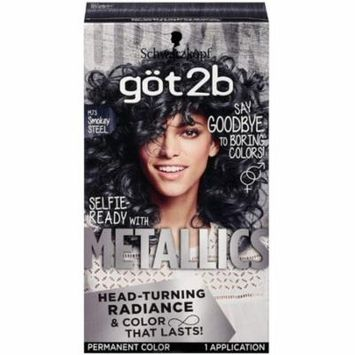 2 Pack - Schwarzkopf Got2B Color Metallic Permanent Hair Color, 1 ea
