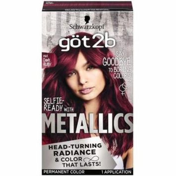 4 Pack - Schwarzkopf Got2B Metallic Permanent Hair Color, 1 ea