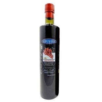 Giusto Sapore Dark Balsamic Vinegar - Premium Italian Gourmet Gluten Free Brand- Imported from Italy and Family Owned