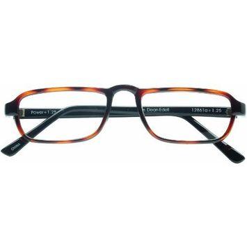 Dr. Dean Edell Classic Half-Eye Reader, 2.00, Tortoise [+2.00]