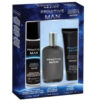 Belcam Inc Primitive Man, version of Sauvage, Fragrance Gift Set for Men, 3 pcs