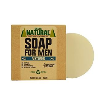 Sam's Natural Soap for Men Vetiver - Bar Soap - Natural - Vegan and Cruelty Free - America's Favorite