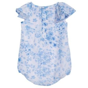 Baby Girls Floral-Print Bubble Romper, Created for Macy's