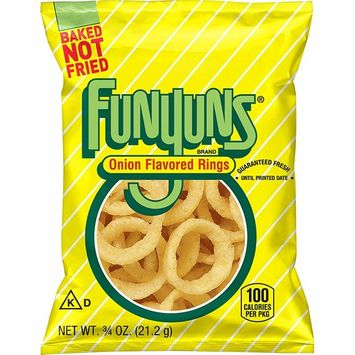 Funyuns Whole Grain Snacks, Onion Flavored, 0.75 Ounce (Pack of 104)