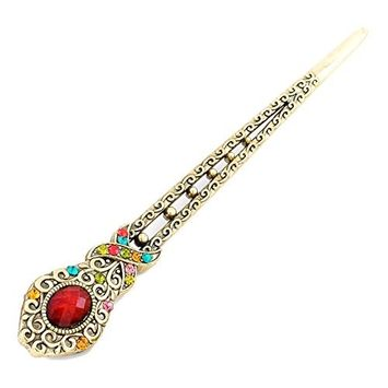 YOY Fashion Hair Decor Chinese Traditional Style Women Girls Hair Stick Hair Pin Hair Making Accessory,Colorful