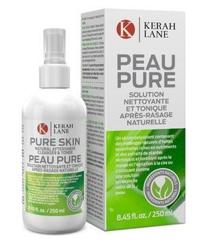 Kerah Lane Pure Skin - Natural Toner & Cleanser to Remove Ingrown Hairs, Acne & Razor Bumps for Women & Men. Use After Shaving, Waxing & Hair Removal or as a General Skin Care Solution 8.45oz