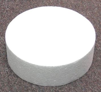 Taylor Foam Round Cake Dummy, Styrene - 7 x 3