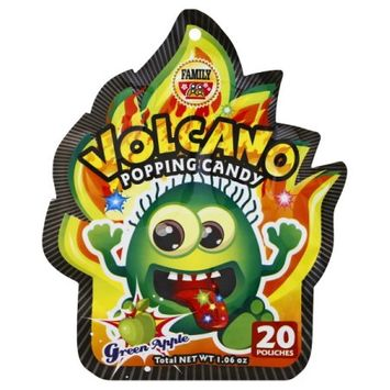 Family Foods Volcano Popping Candy Green Apple
