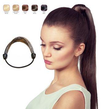 Buy 2 Hollywood Hair Elastic Hair Tie and get 1 Flat Braid Headband - Dark Brown (Pack of 3)