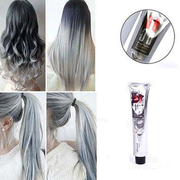 pee 1Pc 100Ml Fashion Light Gray Color Natural Permanent Super Hair Dye Cream