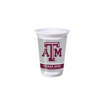 Texas A & M Aggies 20 oz. Plastic Cups, 8-Count