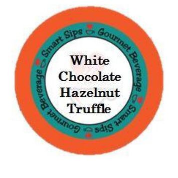 Smart Sips Coffee White Chocolate Hazelnut Truffle Flavored Coffee, 72 Count, Single Serve Cups Compatible With All Keurig K-cup Brewers