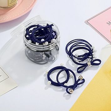 CHIMERA Hair Ties Set No Damage 24Pcs Different Styles Pearls Hair Rubber Band Ponytail Holder Hair Rope for Children Ladies