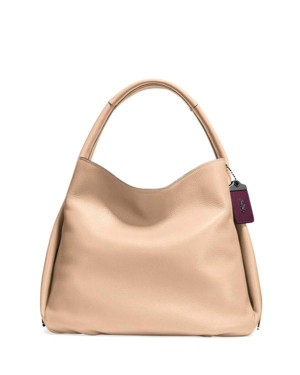 Coach Pebbled Leather Hobo Bag, Tan