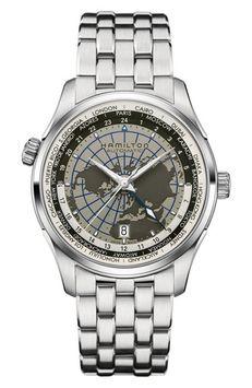 Hamilton Jazzmaster Gmt Automatic Bracelet Watch, 40mm