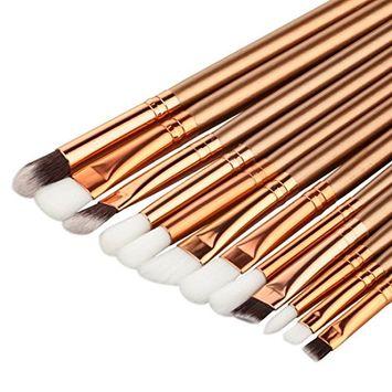 sandistore 12PCS Make Up Foundation Eyebrow Eyeliner Blush Cosmetic Concealer Brushes (G