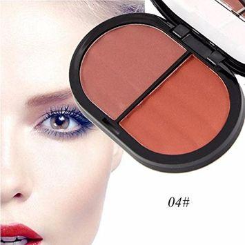 Hunputa Blush, Professional 2 Colors Cosmetic Contour Face Powder Makeup Blush Blusher Palette
