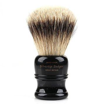 St. James Silvertip Shaving Brush - Ebony Gold (Large (107mm))