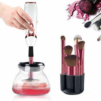 BMK Makeup Brush Cleaner and Dryer Professional Makeup Brush Cleaning Tool Holder Bowl Automatic Electronic Brushes Cleaner for All Size Makeup Brushes