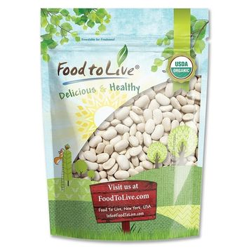 Organic Cannellini Beans by Food to Live (Raw, Dried, Non-GMO, Kosher, White Kidney Beans in Bulk, Product of the USA) — 3 Pounds