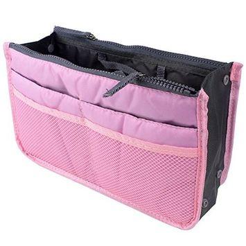 Leegoal(TM) Travel Cosmetic Pocket Insert Handbag Organiser Pouch Bag Insert Organizer, Pink