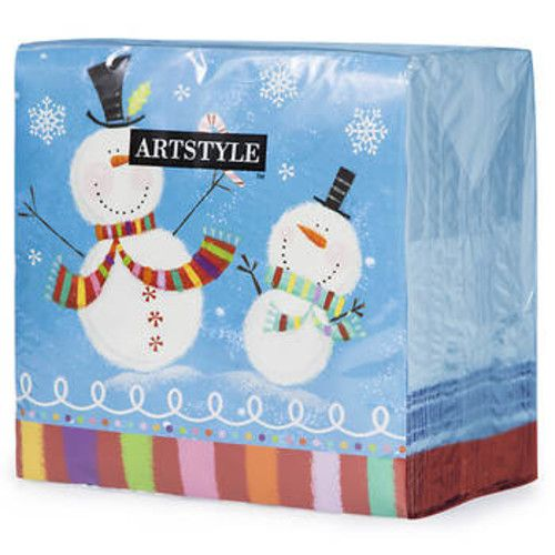 "Artstyle Holiday Buddies 3-Ply 13"" Napkins, 120 ct."