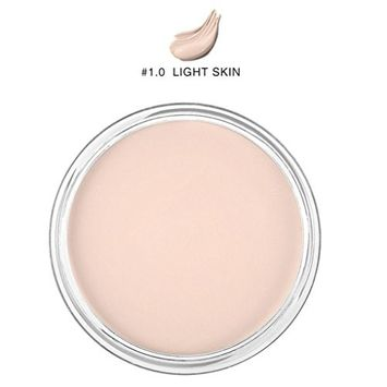 Effectively Creamy Concealer, Lotus.flower Women Flawless Long-lasting Natural Moist Foundation Makeup Smooth Concealer Base Makeup - Cover Dark Circles Freckles Acne