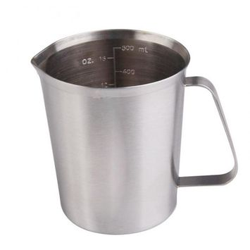 500 ML Stainless Steel Measuring Cup Espresso Coffee Milk Steaming Frothing Pitcher for Espresso Machines, Milk Frothers and Latte Art