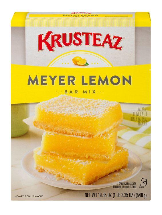 Krusteaz Bar Mix Meyer Lemon