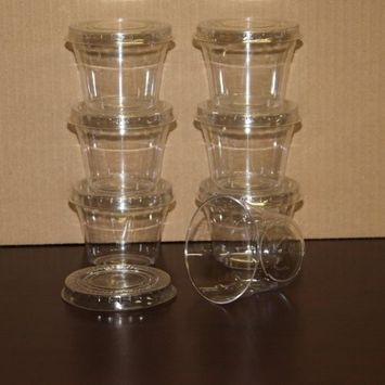 Box of 300 - 5 ounce Dessert Cups / Clear Hard Plastic Souffle Beverage Cups with Lids