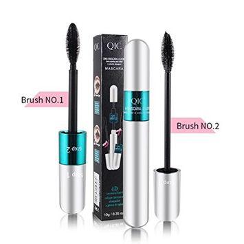 Sandsitore 2 In 1 3D Mascara Cream Makeup Lash,Eyelash Mascara Extension Makeup Black Waterproof Kit Curling Eye Lashes