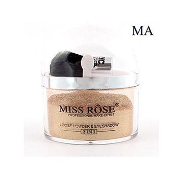 MISSROSE Banana Loose Powder Long Lasting Whitening Concealer Powder Mineral Makeup Face Foundation Highlighter