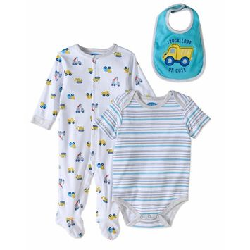 born Baby Boy Take-Me-Home, 3pc Oufit Set
