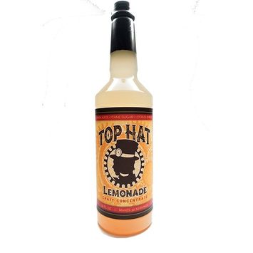 Top Hat Craft Lemonade Concentrate - 32oz Bottle Makes 32 Drinks (Draft and Frozen Cocktail Syrup)