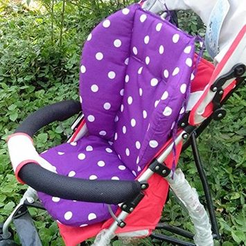 Baby Infant Thick Polka Dot Pushchair Cushion Mat, Baby Stroller Seat Mat, Purple