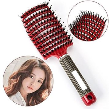 Professionals Boar Bristle Hair Brush Paddle Hair Brush