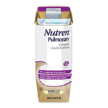 Nutren Pulmonary Vanilla, 250 mL, Carton, Ready to Use, Case of 24 8 Pack