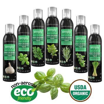 The Herb Garden (7 Assorted Simply Beyond Organic Spray-On Herbs Seasoning - Garlic, Basil, Oregano, Rosemary, Cilantro, Thyme, Lemongrass)