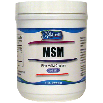 Kala Health, Inc MSM Powder (OptiMSM) Fast Dissolving Fine Crystals (1 Pound Container) - This FAST Dissolving MSM is