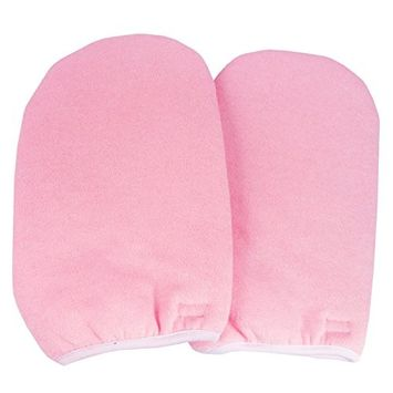 Beauties Factory Paraffin Wax Protection Hand Gloves Soak Off UV Gel Nail Pink Color