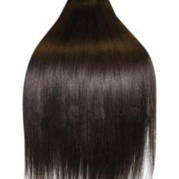 Supermodel - 18 Inch Dark Brown (Col 2). Full Head Human Hair Weave, Hair Weft For Sew In