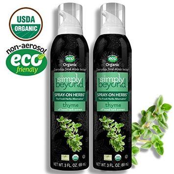 Simply Beyond, Organic Spray-On Herbs, Thyme, 3 Fl. Oz. (Thyme, 2 Pack)