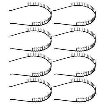 STHUAHE 8 PCS Unisex Black Metal Teeth Comb Hair Hoop Hairband Headband Hair Accessories by Beauty hair