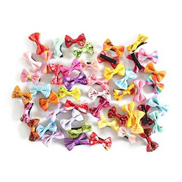 TOOGOO(R) Hairpin Baby Boutique Hair Bows With Clips for Girls Baby 50Pcs
