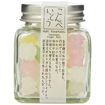 Konpeito [The Origin of Natural Ingredients] (50g) [Kyoto Japan Import] Glass Bottle
