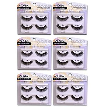 Andrea two of a kind Lashes 33 black ( 6 pack )