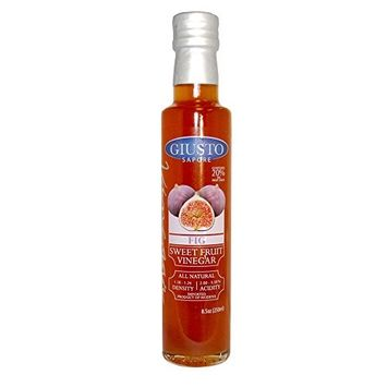 Giusto Sapore Fig Sweet Fruit Italian Vinegar 8.5oz - Premium All Natural Infused Gluten Free Gourmet Brand - Imported from Italy and Family Owned [Fig]