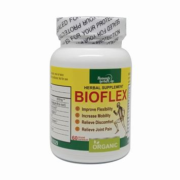 BioFlex Capsules by Heavenly Herbals, Inc. Improves flexibility, increase mobility, relieve discomfort, relieve joint pain.