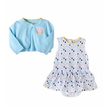 Baby Girl Cardigan & Sleeveless Dress, 2pc Outfit Set [baby_clothing_size: baby_clothing_size-12m]